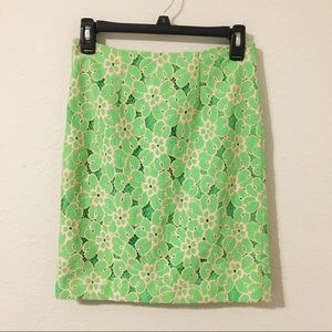 Lilly Pulitzer Hyacinth Lace Pencil Skirt